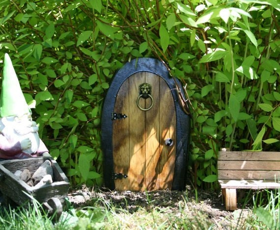 & A Fairy door / Gnome door that OPENS. 12 inch rounded Gnome /