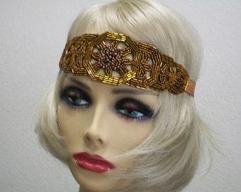 Flapper headband, Great Gatsby headpiece, 1920s headpiece,  Beaded Art Deco headband, 1920s headband, Beaded headband, 1920s hair accessory