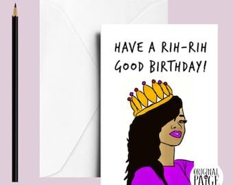 Rihanna birthday greeting card