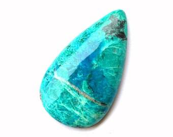 Chrysocolla natural stone Designer cabochon  39 x 22 x 6,5 mm