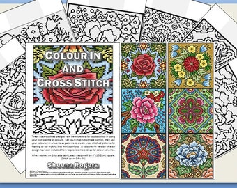 PDF CHART Colour In and Cross Stitch 6 Designs