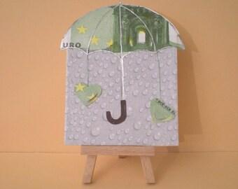 Money gift + Cash rain = Rescue umbrella