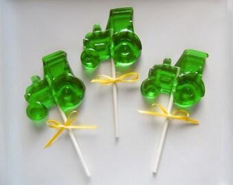 10 Tractor Lollipops John Deere Farm Birthday Party Favors Candy