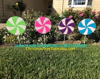 Candyland Decorations Candy Theme Party Lollipops 12 INCH Candy Land Willy Wonka Party Birthday Party Sweet 16 custom Color Lollipop 12 INCH