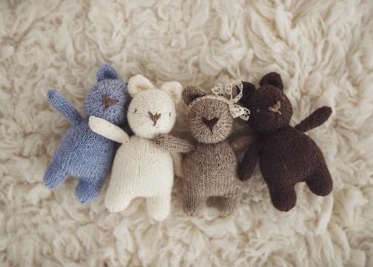 PATTERN mini Brambles Bear adorable knitting pattern from ...