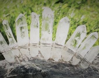 Ice Quartz Mini Tiara