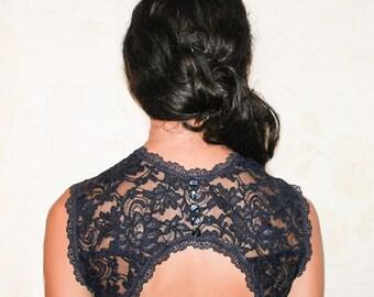 Lace bolero wedding dress bridal lace top navy blue bolero lace shrug lace bolero jacket evening bolero shrug bolero jacket shrug bolero