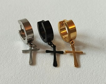 Rings cross earring