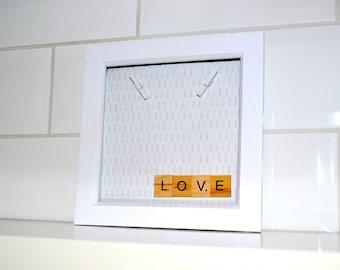 Love Scrabble and Peg Box Frame