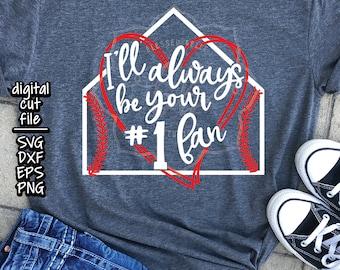Baseball Mom SVG, dxf, eps, png, Number one fan svg, baseball svg, baseball mom shirt, cut file, Silhouette, Cricut