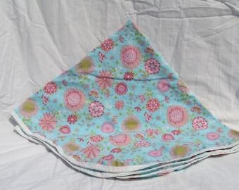 Cotton Receiving Blanket Pink Flowers