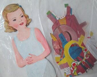 Vintage Elaine Paper Doll, P & M Co, Inc, Mid Century