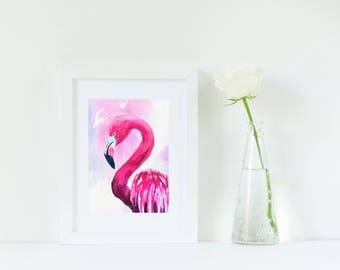 Flamingo Decor Print