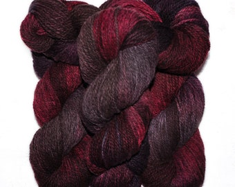 Hand dyed yarn - Alpaca / American wool yarn, Worsted weight, 240 yards - Ramac