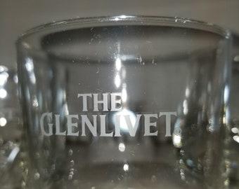 Variety of 5 Unique Glenlivet Glasses, Glass. Scotch, Whisky, Whiskey