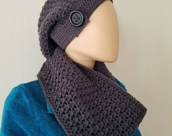 Crossed Double Cowl Crochet Pattern *PDF FILE ONLY* Instant Download