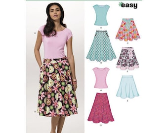New Look 6899 Size 10-22 Misses Skirts and Top Sewing Pattern / Uncut/FF