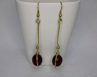 Brass Beaded Earring