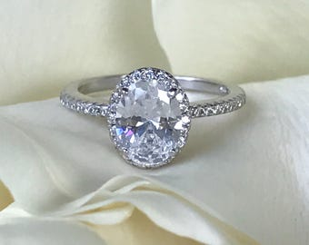 round view white bands ring large cut diamond engagement hypnotique