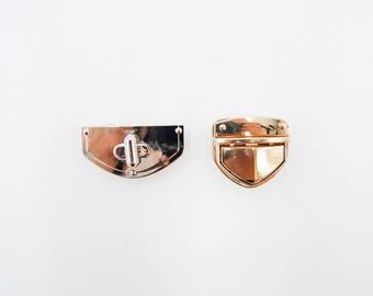Handbag lock perfect for handmade purses; silver lock , golden lock