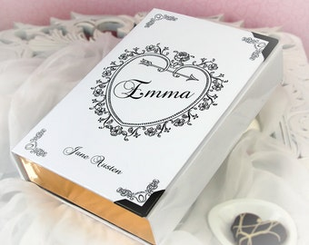 "Romantic Book Clutch ""EMMA"" Jane Austen (customizable)"