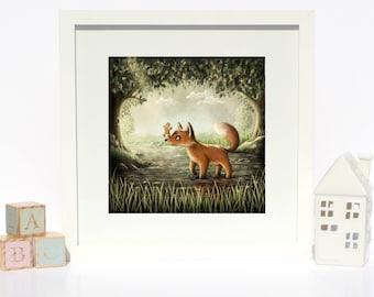 The Gingerbread Man - Giclee Fairytale Fine Art Print - Nursery/Kids room/home decor