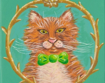 Mr. Kitty giclee art print 11x14