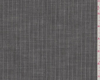 Graphite Grey Stripe Polyester Suiting, Fabric By The Yard
