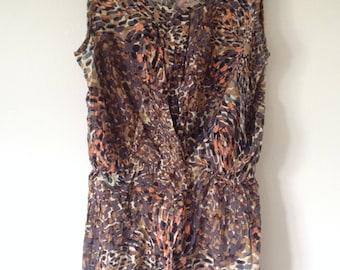 25% OFF SALE BOHO Lovely feminine bohiemian free spirit artistic blotch pattern tunic dress top