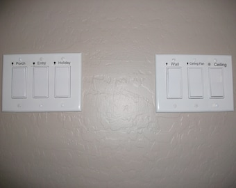 Light Switch Labels - Customized
