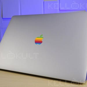 Retro Rainbo Apple Sticker Decal for the Macbook Pro Late 2016-2017 version