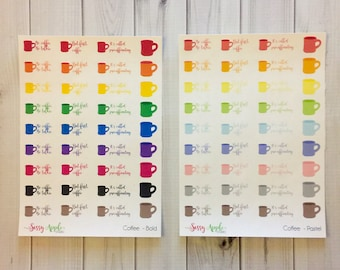Coffee Stickers - Planner Stickers