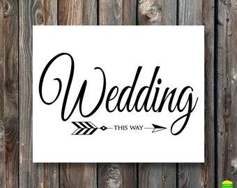 PRINTABLE Wedding Ceremony SignCeremony This Way