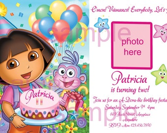 Instant download dora invitation dora birthday dora pdf dora birthday invitation dora party birthday invitation dora invitation digital you print filmwisefo Choice Image
