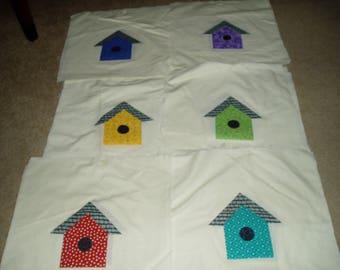 24 Large Birdhouse Fabric Squares
