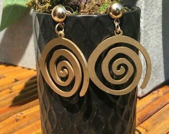 Stainless Steel Swirl, Face, Elephant Earrings (3 options)