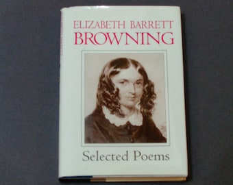 """Elizabeth Barrett Browning - Selected Poems - """"Sonnets from the Portuguese"""" - Gramercy Books 1995 - Vintage Hardcover Poetry Book"""
