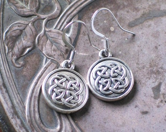 Outlander Inspired Celtic Knot Earrings, Scottish Jewelry, Irish Jewelry,