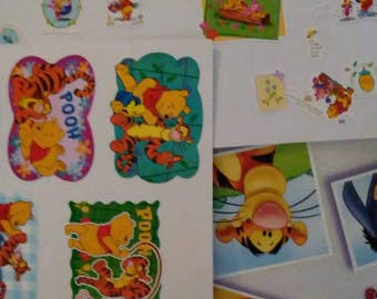 Vintage 1990s WINNIE the POOH Sticker Collection!! 3 pages with over 100 stickers!!