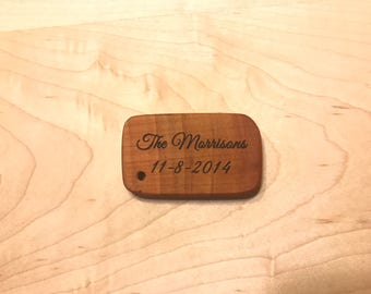 Personalized Engraved Wooden Keychain