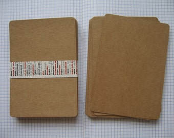 "25  Blank Kraft Paper for DIY Postcards,Invitation Cards with rounded corners ,Size 4""x6"" (10.20x15.20cm.)"