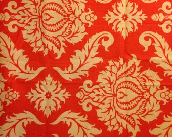 AVIARY 2 by Joel Dewberry - Fabric - Damask in Saffron -  Quilting - Sewing - Home Decor - Crafting - Floral - Mosaic - Nature - Flowers