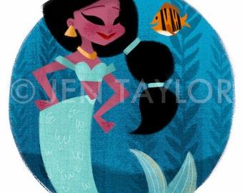 Jasmine Mermaid Print