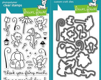 Lawn Fawn Fairies Friends Photopolymer Clear Stamps