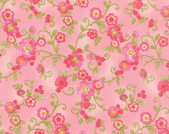 Moda COLETTE Quilt Fabric 1/2 Yard By Chez Moi - Floral Flourish Rose 33051 11