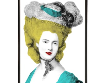 Lady in Blue Pop Art Print after Thomas Gainsborough