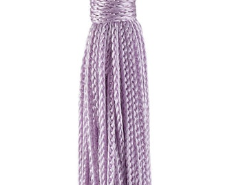 Set of 10 Light Purple Chainette Tassel, 3 Inch Long With 1 Inch Loop, Basic Trim Collection Style# Rt03 Colorlilac - D7