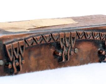 ART DECO Border 1903-1953 Antique GERMAN Copper Letterpress Cut printing block Daisy Flourish