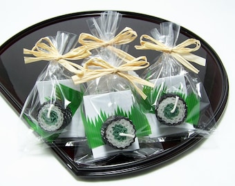 Green Spinach Sushi Japanese Favor Party Candle Beeswax Fake Faux Food Japan Gift Sushi Party Favor