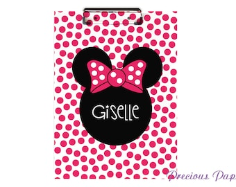 Personalized Minnie mouse clipboard, minnie mouse gift,  minnie classroom, teacher gift, teacher clipbaord, classroom gift